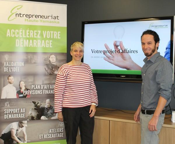 Venez rencontrer Caroline Larocque et Frédérick Bonner, vos conseillers pour la validation de votre idée d'affaires et le démarrage de votre entreprise en Haute-Yamaska