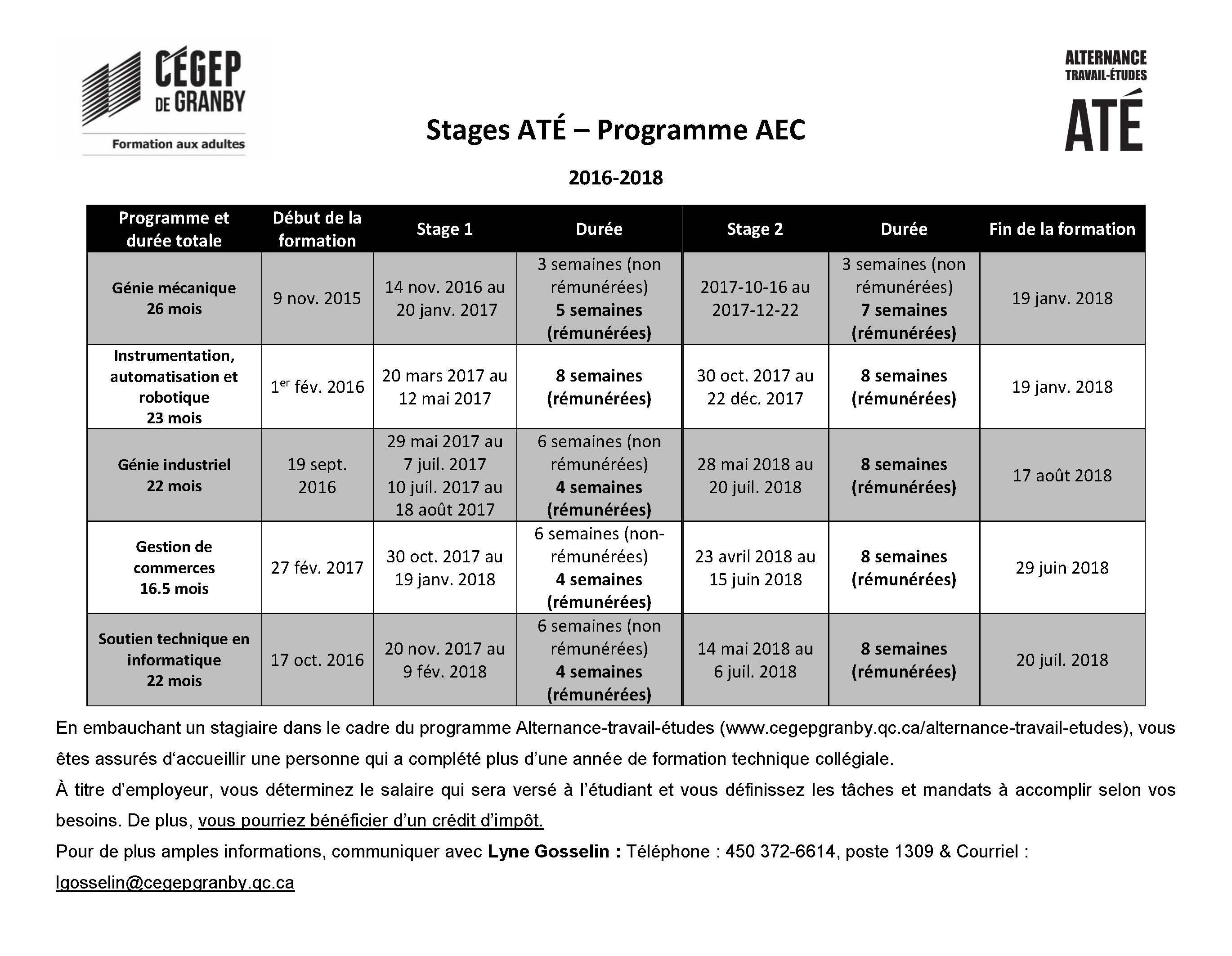 Stages ATÉ SFA_2016-2018