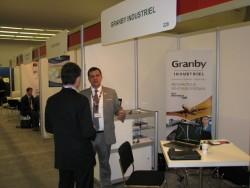 M. Éric Tessier, commisaire industriel, représentant au kiosque de Granby Industriel