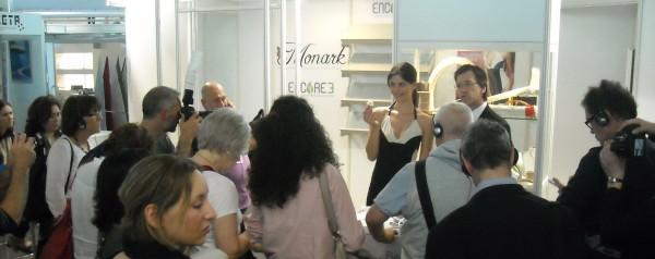 François Simard, PDG de Protec-Style, lors du salon Techtextil à Francfort.
