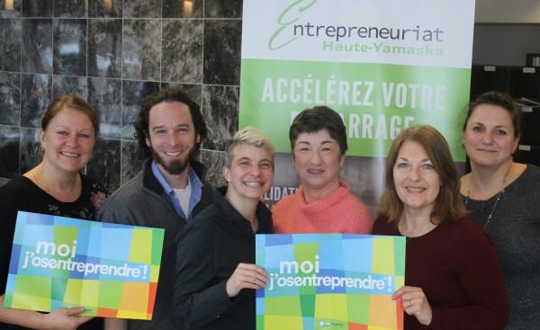 Équipe organisatrice du volet local en Haute-Yamaska : Carole Gatien, Frédérick Bonner, Caroline Larocque, Maryline Martin, Chantal Bertrand, Annick Lefrançois.