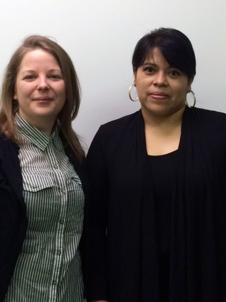 Audrey Roy, conseillère ressources humaines chez Belt-Tech et Maritza Murillo, inspectrice