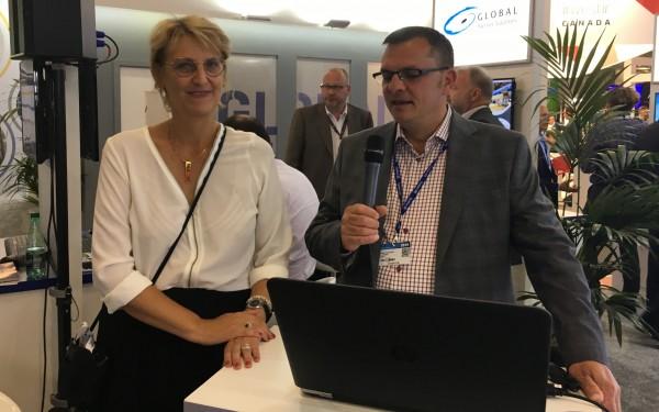 Mme Aline Doyen, présidente SOMEPIC Technologie et M. Éric Tessier, directeur développement industriel, Granby Industriel